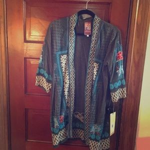 NWT! Johnny Was Embroidered Kimono!